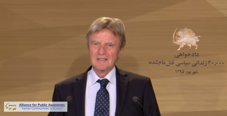 Former French FM calls for international court to prosecute Iran regime for 1988 massacre in Iran