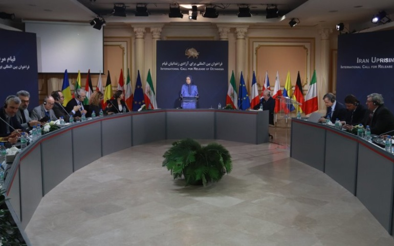 European countries support Iran uprising at a conference in Paris