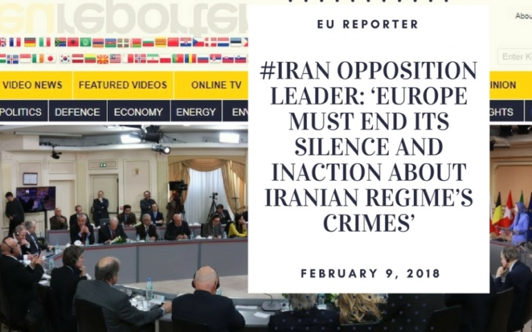 Iranian opposition leader, renowned human rights advocates, demand Europe's support for Iranian protesters, denounced the regime's onslaught of human rights