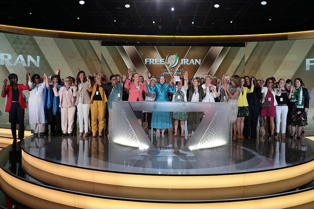"""The statement presented to Maryam Rajavi in """"Free Iran"""" gathering by dignitaries and women rights advocates"""