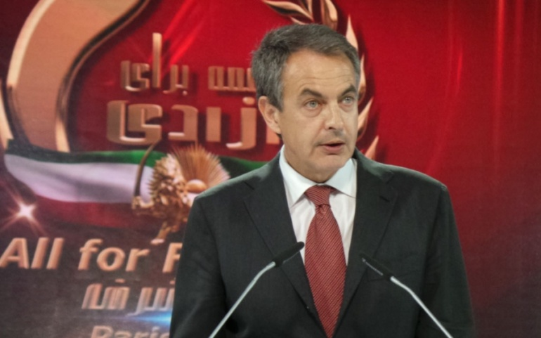 José Luis Rodríguez Zapatero-Paris, June-2014 – The Grand Gathering of Iranians
