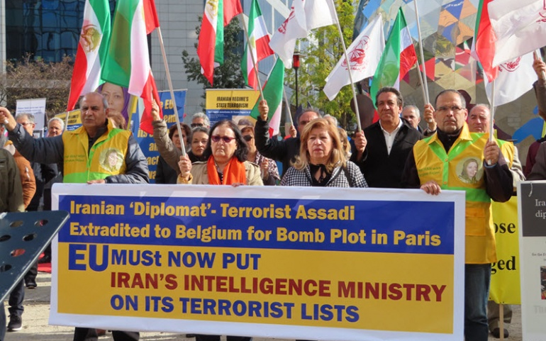 Anti-Iran Regime Protests in London and Brussels
