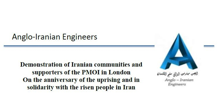 Demonstration of Iranian communities and supporters of the PMOI in London On the anniversary of the uprising and in solidarity with the risen people in Iran