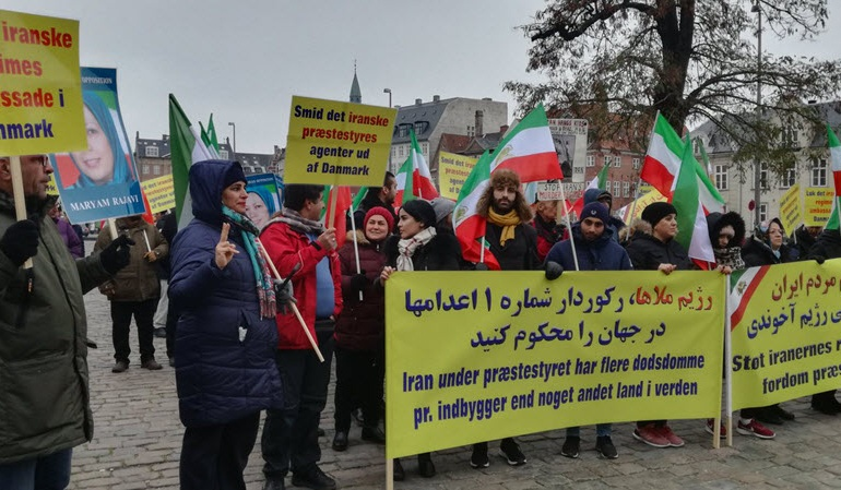 Iranian communities in Denmark: Demonstration Against Iran Regime's Human Rights Abuse and Terrorism