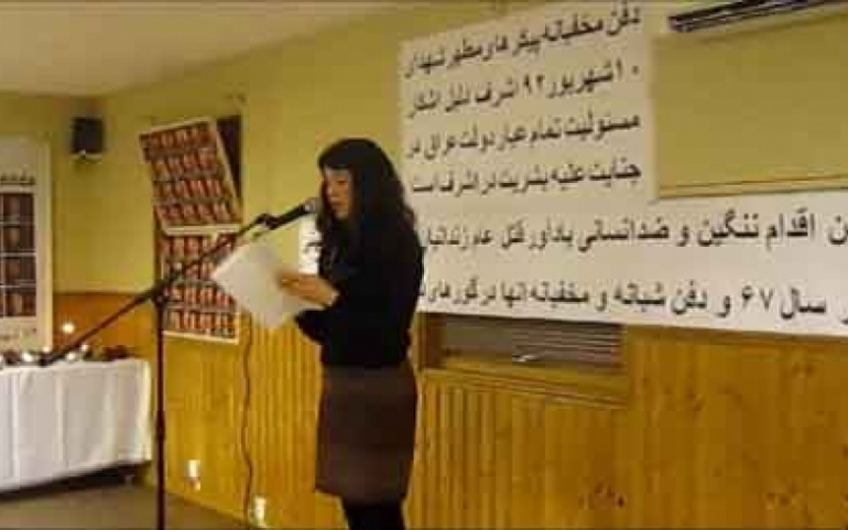 Gothenburg – Iranians honor the victims of massacre in Camp Ashraf