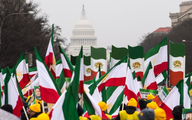 Iranian Communities FreeIran rally near White House, protesters demand 'regime change' in Iran