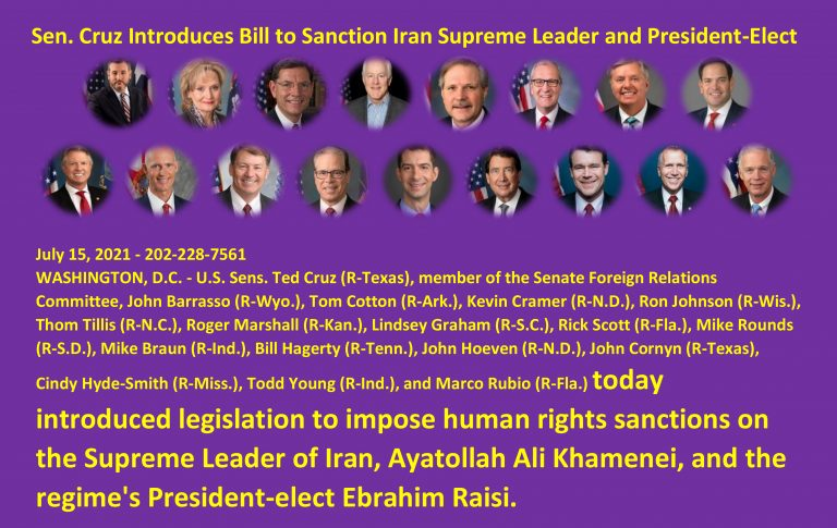 Sen. Cruz Introduces Bill to Sanction Iran Supreme Leader and President-Elect