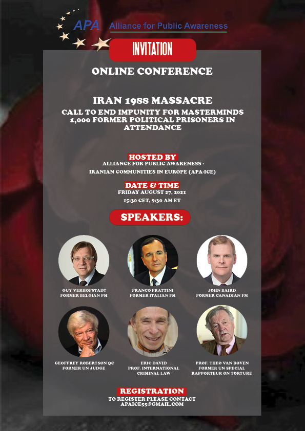 Iran's 1988 Massacre – Online Conference by experts, jurists, witnesses